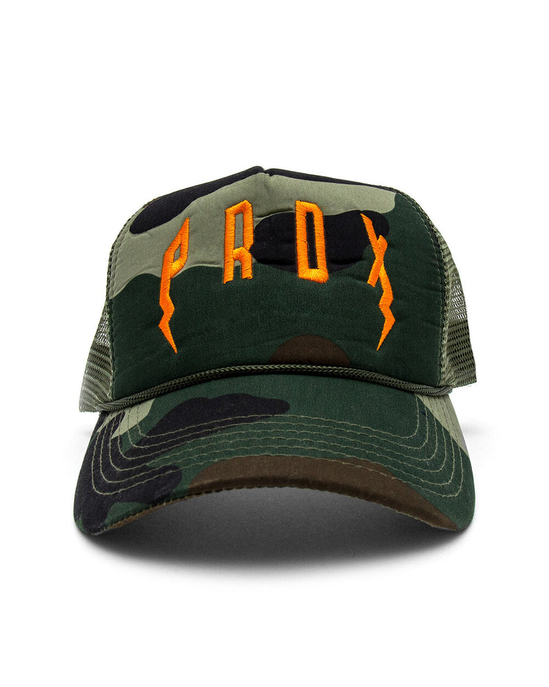PRDX Trucker Hat (Camo/Olive/Orange)