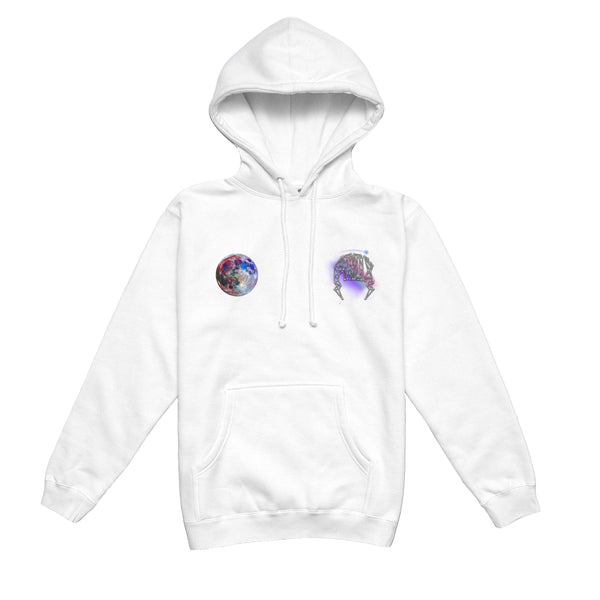 """GALAXY"" LIGHTNING ARC LOGO HOODIE (WHITE)"