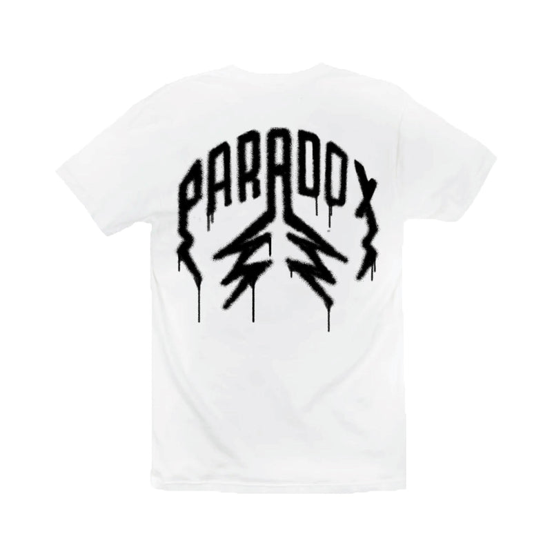 """SPRAY PAINT"" LIGHTNING ARC LOGO TEE (WHITE)"