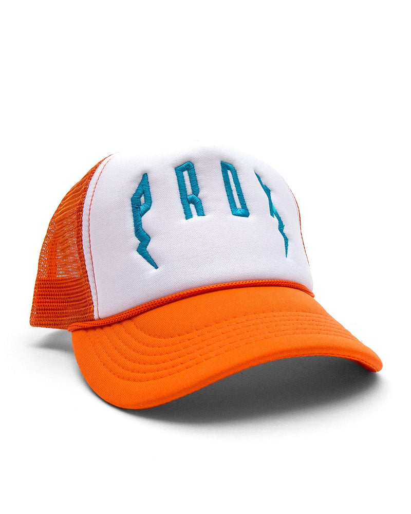 PRDX Trucker Hat (Orange/ White/ Teal)