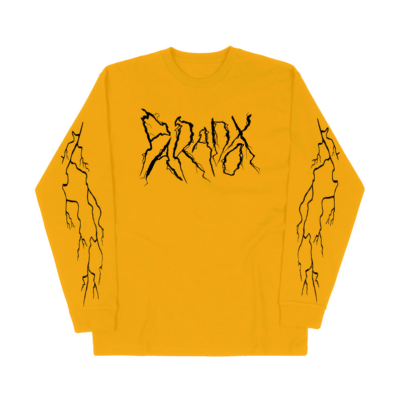 """Lightning Strike"" Long Sleeve Tee (Gold/Black)"