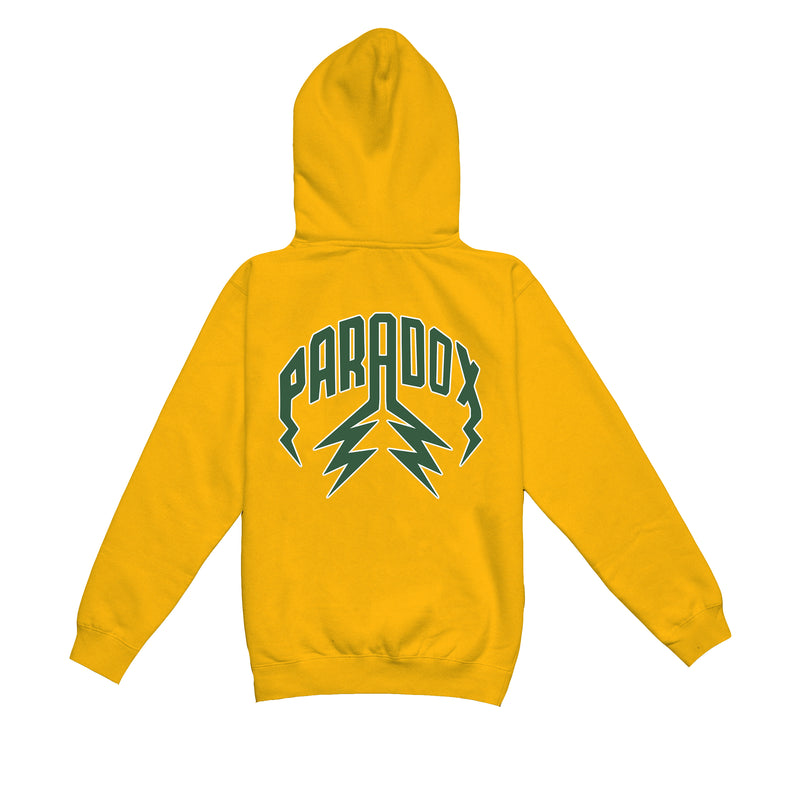 """BRAZIL"" LIGHTNING ARC LOGO HOODIE (YELLOW GOLD)"