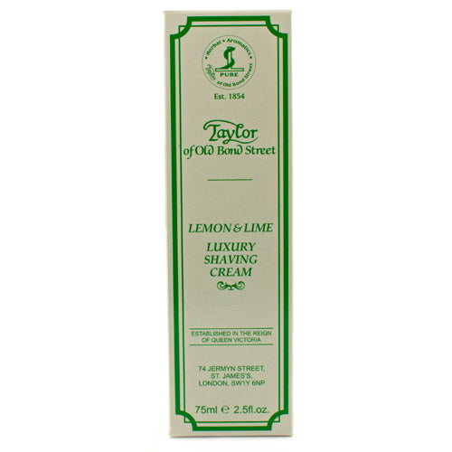 Taylor of Old Bond Street Lemon & Lime Shaving Cream Tube