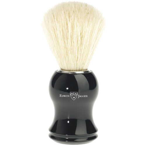Edwin Jagger Shaving Brush, Pure Bristle, Imitation Ebony Handle