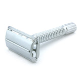 Timor Matt-Chrome Butterfly Safety Razor 80 mm, with 10 Blades Pack