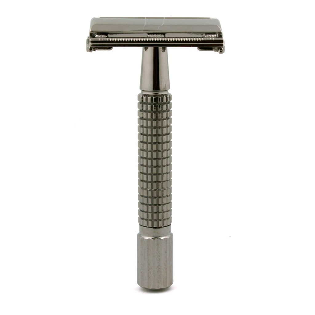 Timor 1321 Black-Chrome Butterfly Safety Razor 80 mm, with 10 Blades