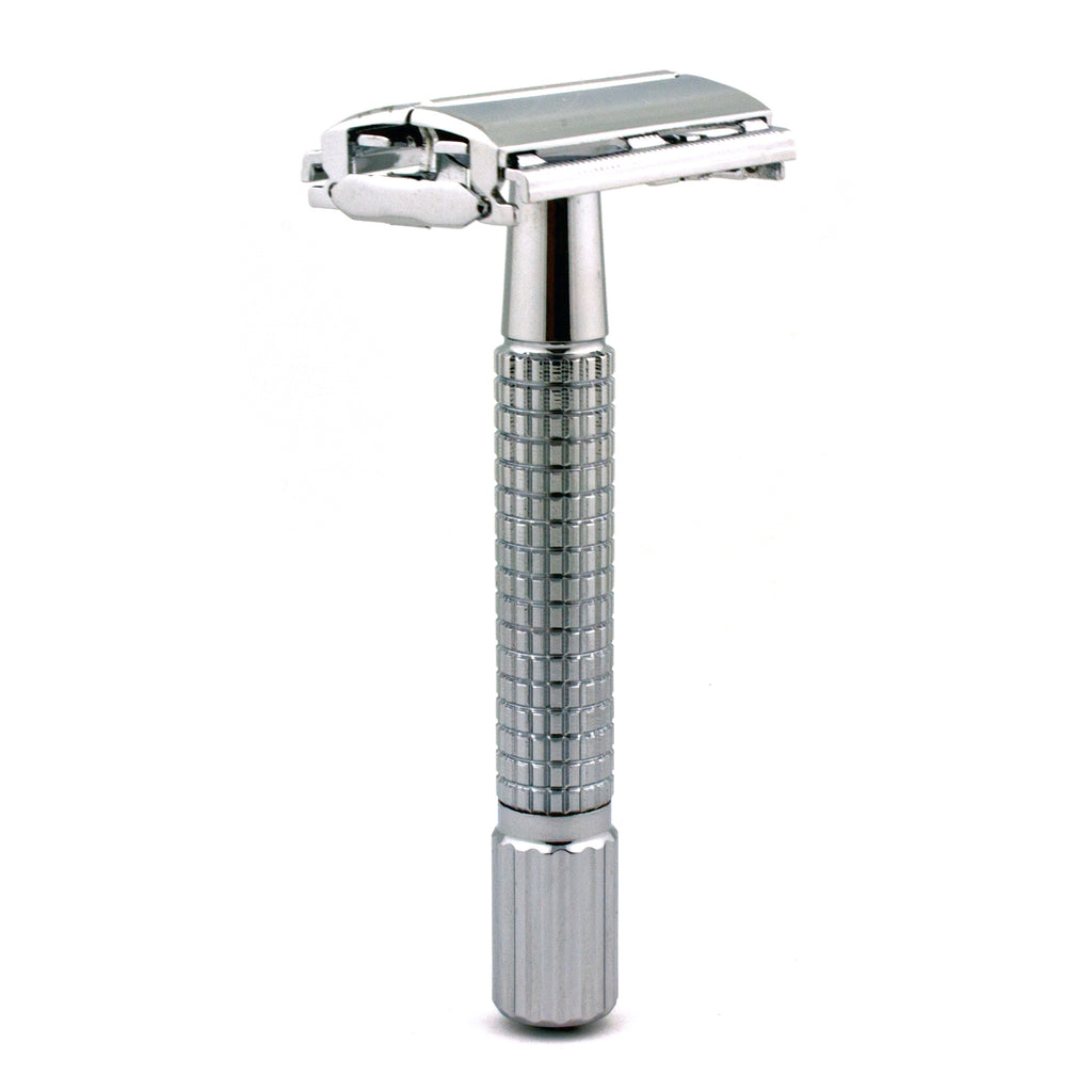 Timor 1322 Chrome-Polished Butterfly Safety Razor 80 mm, with 10 Blades