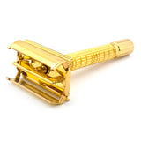 Timor 1323 Butterfly Gold Plated Safety Razor with 10 Blades