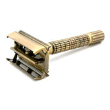 Timor Bronze Color Plated Butterfly Safety Razor 80 mm, with 10 Blades Pack