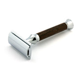 Timor Wenge Wood Safety Razor, Closed Comb (Designed & Made in Germany)