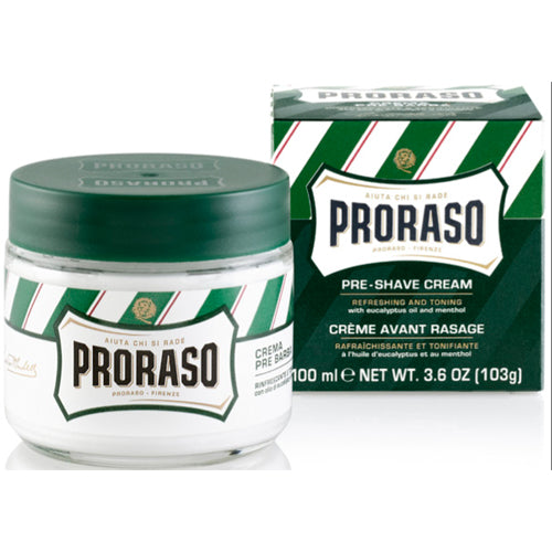 "Proraso ""Green"" Pre-Shave Cream with Eucalyptus Oil & Menthol- New Formula"
