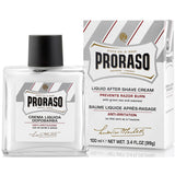 "Proraso ""White"" Liquid After Shave Cream with Green Tea & Oatmeal- New Formula"