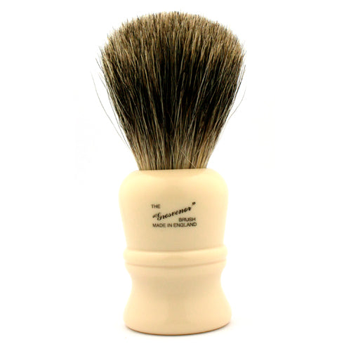 Vulfix 404 Pure Badger, Grosvenor, Imitation Ivory Handle Shaving Brush