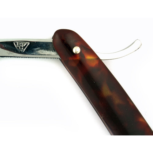 "Wapienica SFK 5/8"" Straight Razor, Brown-Red Scale (Clearance)"