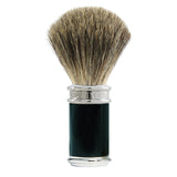 Edwin Jagger Shaving Brush, Pure Badger, Ebony and Chrome Plated