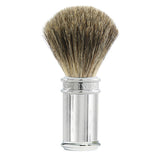 Edwin Jagger Shaving Brush, Pure Badger, Lined, Chrome Plated