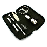 Hans Kniebes 5 Piece Manicure Set with Clipper, in Leather-Zipper Case