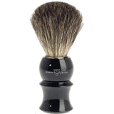 Edwin Jagger Shaving Brush, Pure Badger, Imitation Ebony Plastic Handle