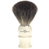 Edwin Jagger Shaving Brush, Pure Badger, Imitation Ivory Plastic Handle