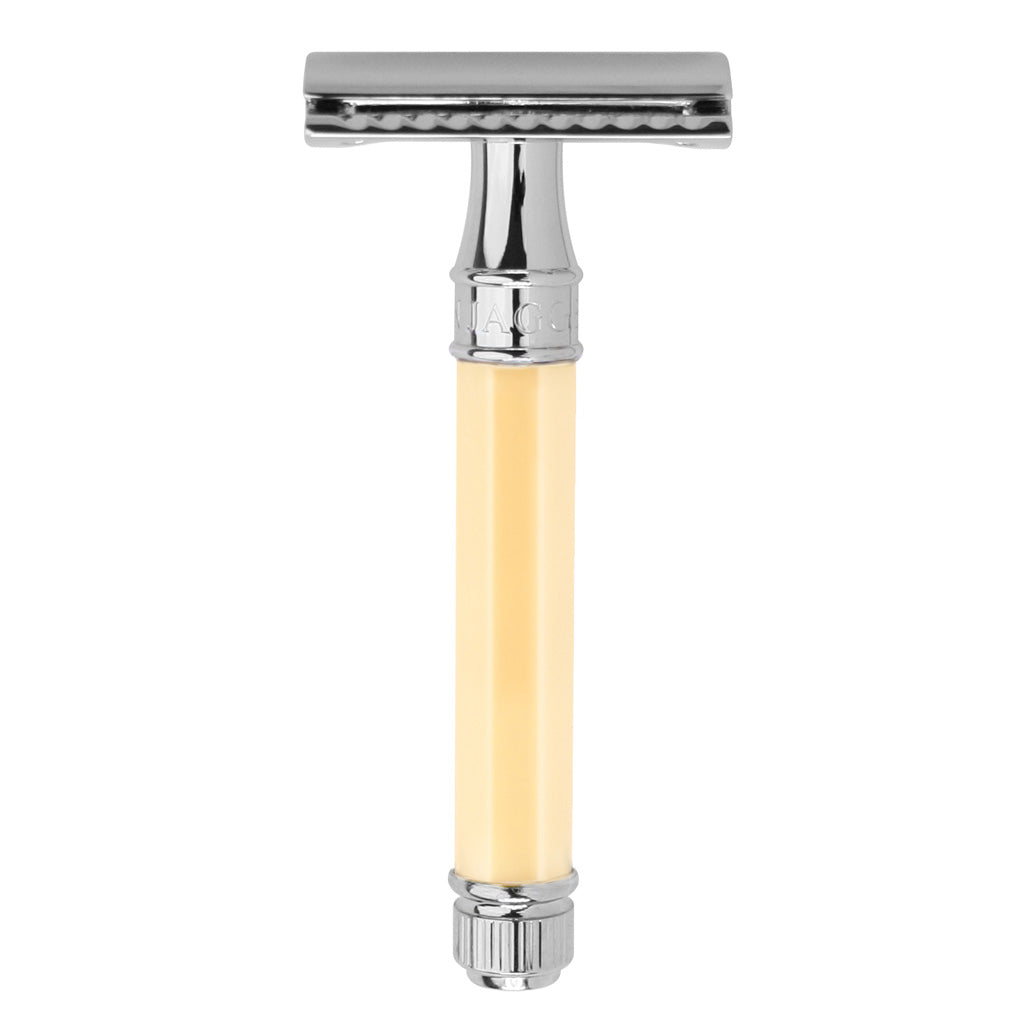Edwin Jagger Safety Razor, Ivory Octagonal Handle