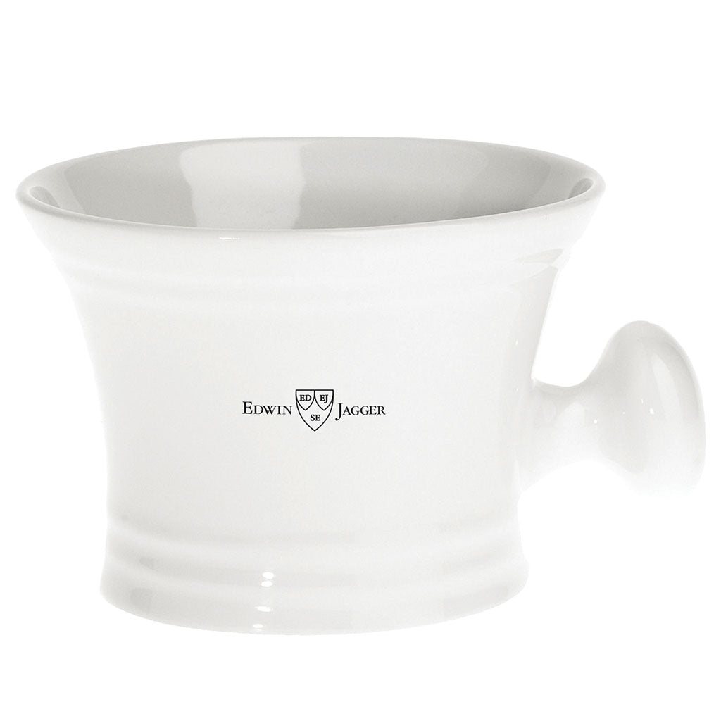 Edwin Jagger White Porcelain Shaving Mug with Handle
