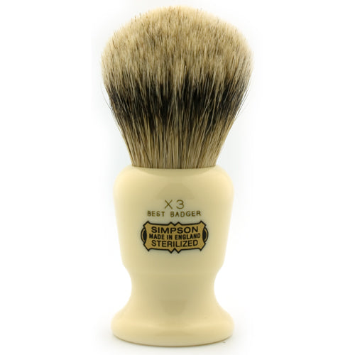 Simpsons Commodore X3 Best Badger Shaving Brush