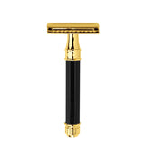 Edwin Jagger Safety Razor, Octagonal, Imitation Ebony, Gold Plated