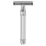Edwin Jagger Safety Razor, Octagonal Handle, Chrome Plated