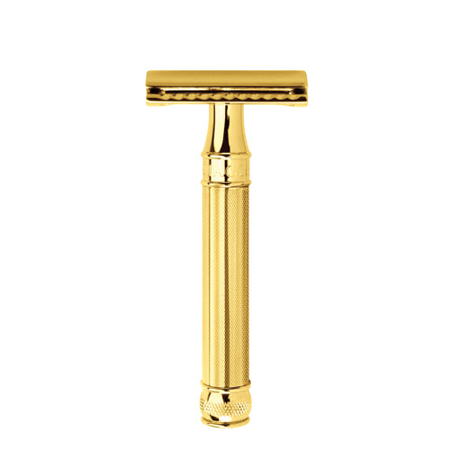 Edwin Jagger Safety Razor, Barley, Gold Plated