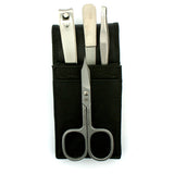 Hans Kniebes 4 Piece Manicure Set in Leather Case