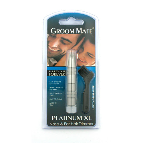 Groom Mate Platinum XL Nose & Ear Hair Trimmer, with Cleaning Brush
