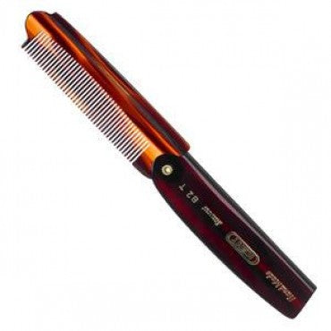 Kent 82T Folding Pocket Comb, Fine Toothed