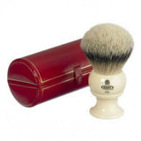 Kent BK12 Pure Silver Tip Badger Shaving Brush, King Size, Ivory