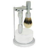 MERKUR Vision 2000, 4-Piece Shaving Set, Brushed Chrome