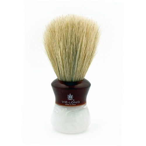Vie-Long Horse Hair, Red/White Acrylic Handle Shaving Brush