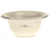 Edwin Jagger Ivory Porcelain Shaving Soap Bowl with Silver Rim