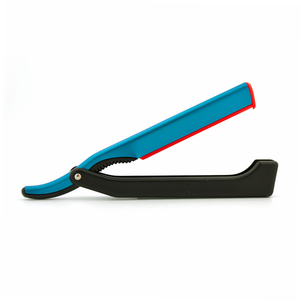 DOVO Shavette Straight Razor Blue with Black Handle