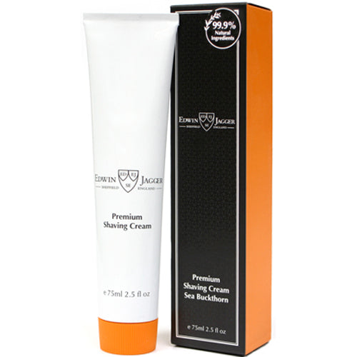Edwin Jagger Premium Shaving Cream, Sea Buckthorn, 75 ml Tube