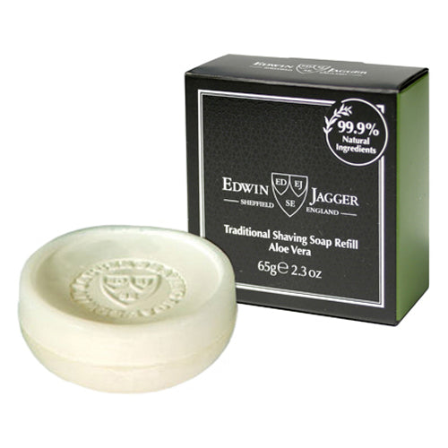 Edwin Jagger Traditional Shaving Soap, Aloe Vera, 65 g
