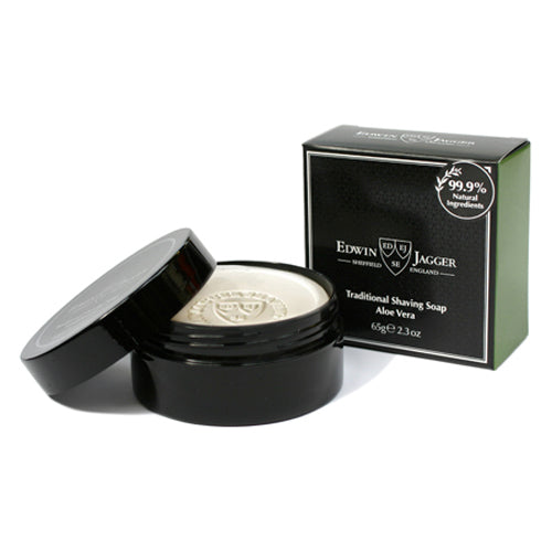 Edwin Jagger Traditional Shaving Soap, Aloe Vera, 65 g, Travel Container