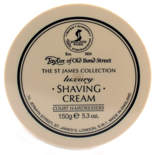 Taylor of Old Bond Street St James Collection Luxury Shaving Cream