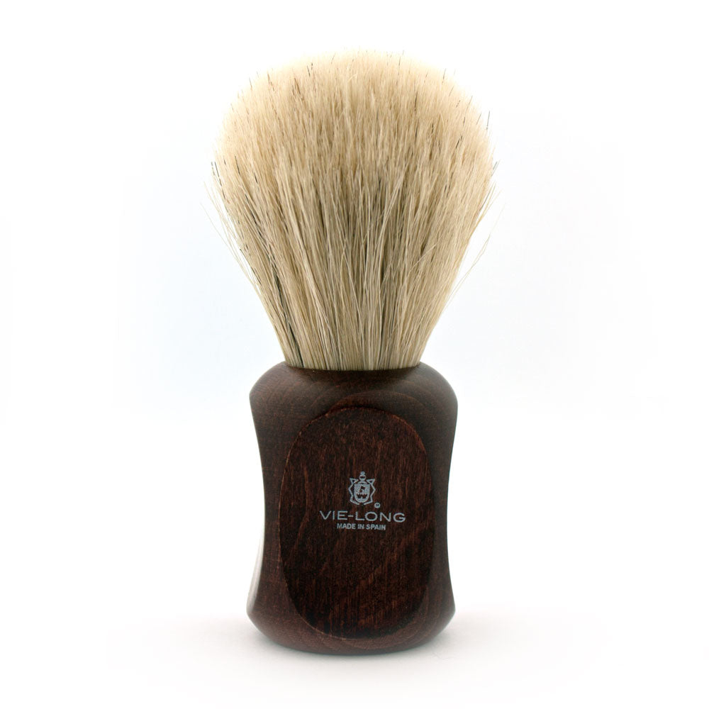 Vie-Long Horse Hair, Dark Red Wood Handle Shaving Brush