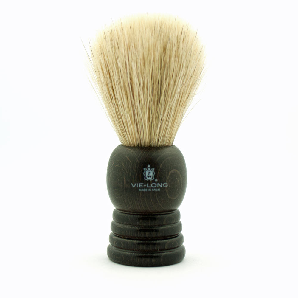 Vie-Long Badger & Horse Hair, Dark Wood Handle Shaving Brush