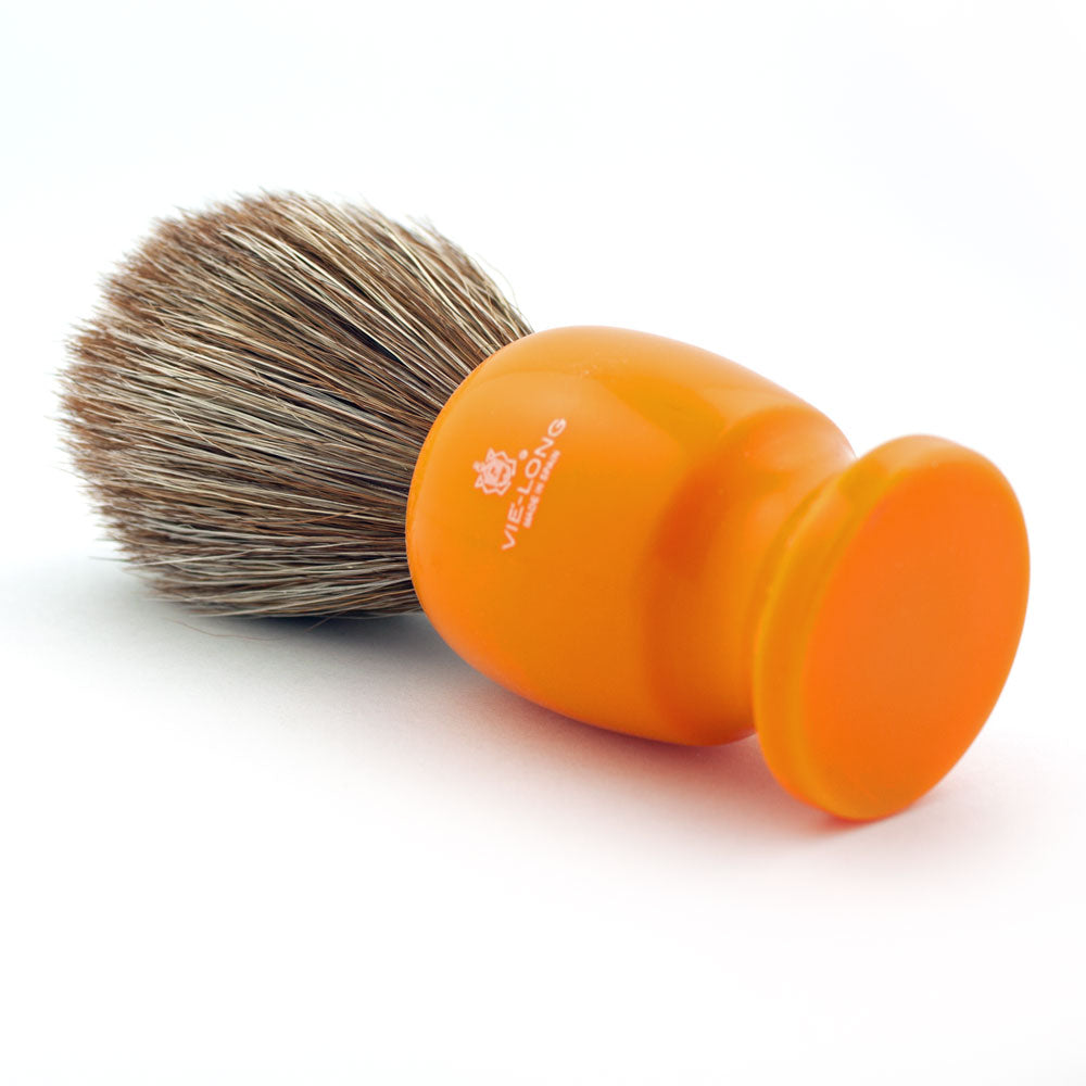 Vie-Long Brown Horse Hair,  Acrylic Butterscotch Shaving Brush