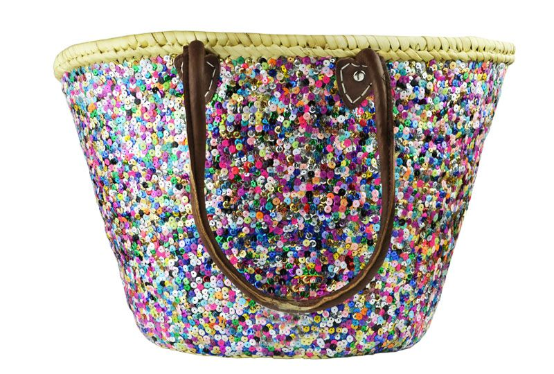 Panier paillette multicolor - Artisanat Shop