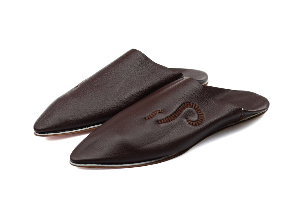 Babouche marron bout pointue - Artisanat Shop
