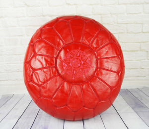 Pouf rouge - Artisanat Shop