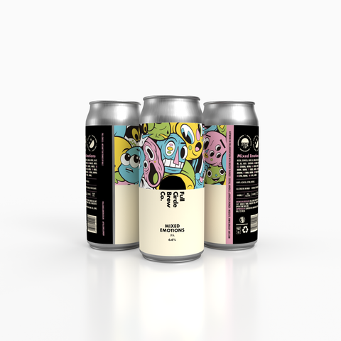 Cans of Mixed Emotions, one of the latest productions from the Full Circle Brew Co