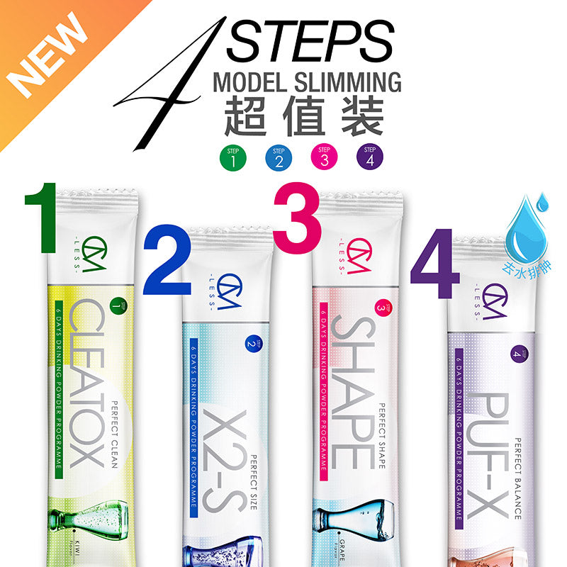 CM LESS Model Slimming 超值裝 Step 1,2,3,4 (Super Value Pack Step 1,2,3,4)