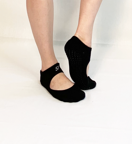 Mary Jane Skimmer Socks-Black